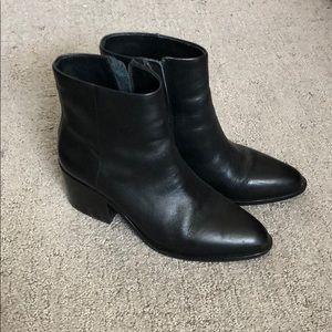 Open Ceremony Chunky Heel Leather Booties